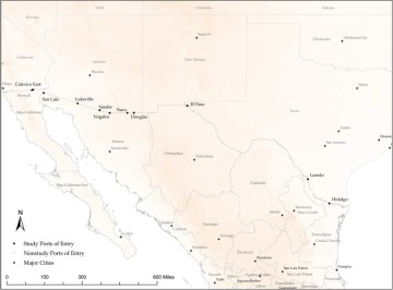 U.S. - Mexico Border Ports of Entry Click on map to enlarge.