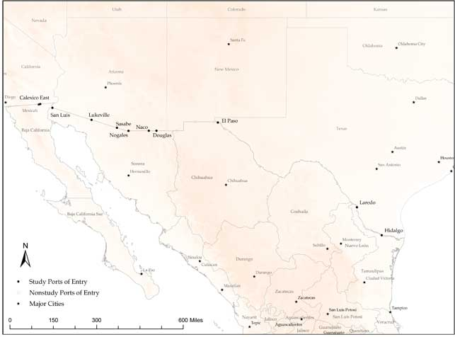 Map Of Arizona With Major Cities.Arizona Mexico Border Map Arizona S Economy