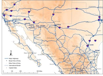 U.S. - Mexico Highway System.