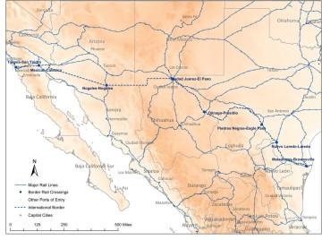 U.S. - Mexico Railway System.