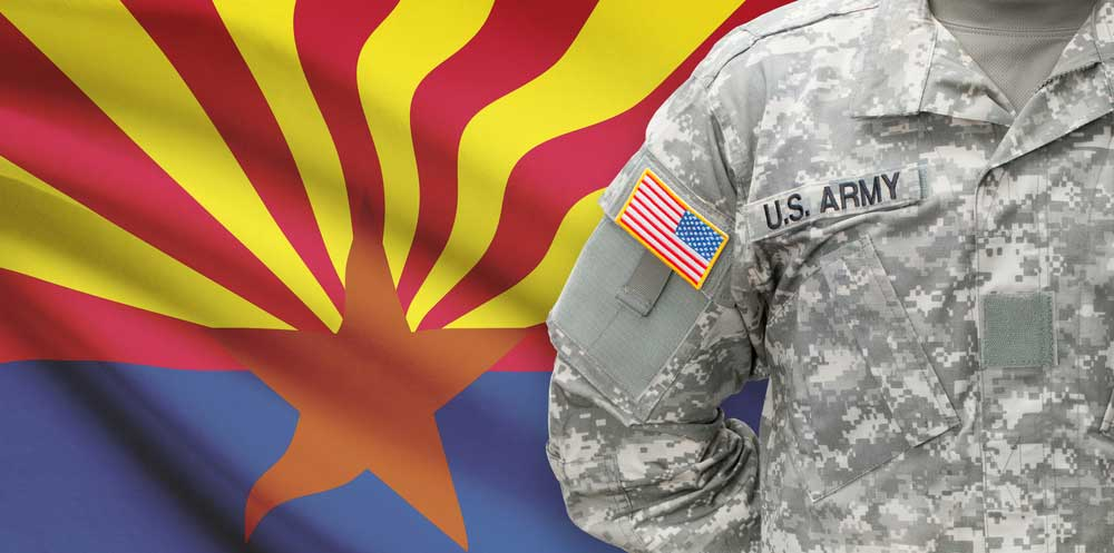Arizona flag and veterans